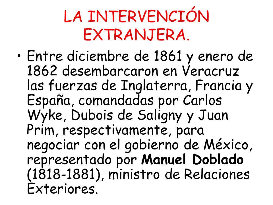 LA INTERVENCIÓN EXTRANJERA.
