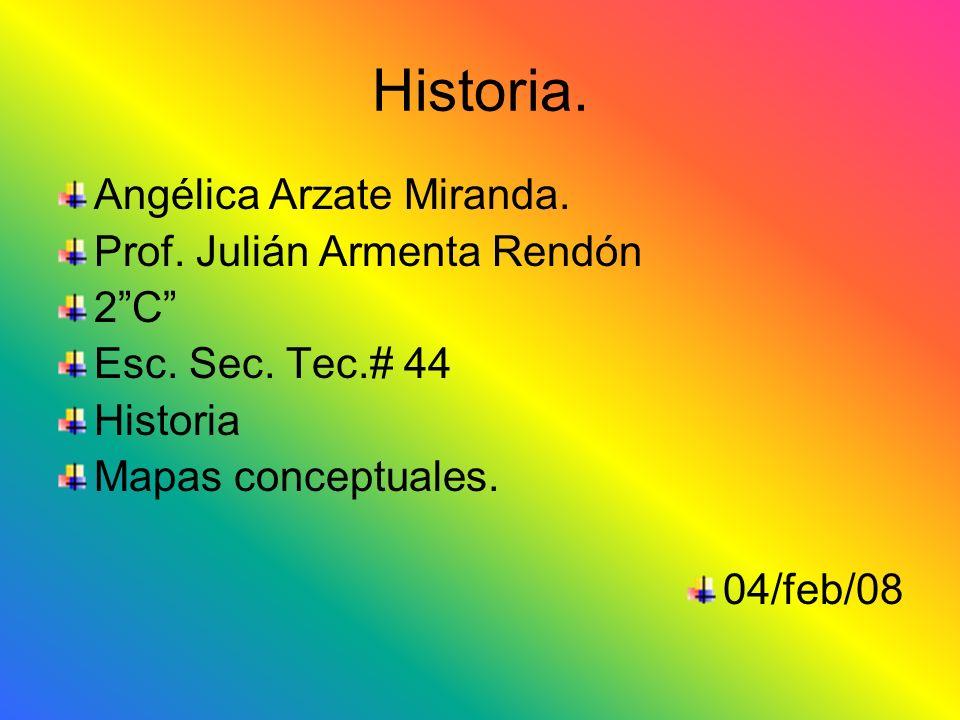 Historia. Angélica Arzate Miranda. Prof. Julián Armenta Rendón 2 C