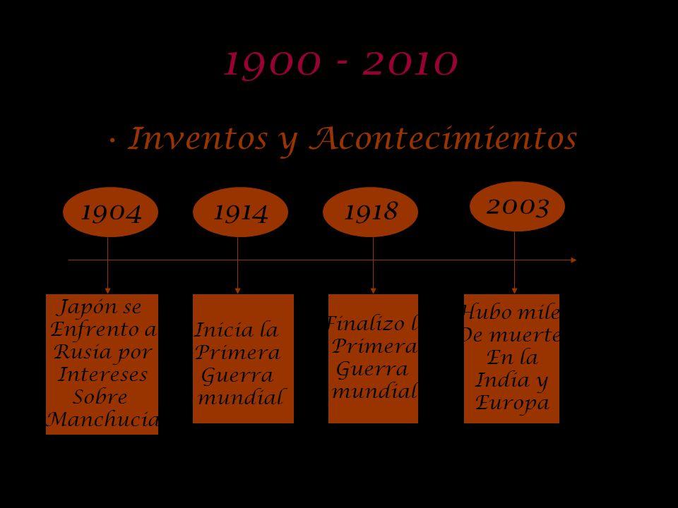 Inventos y Acontecimientos