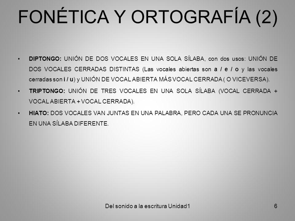 FONÉTICA Y ORTOGRAFÍA (2)