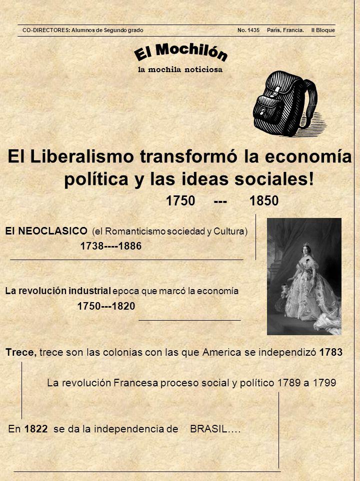 El Liberalismo transformó la economía política y las ideas sociales!