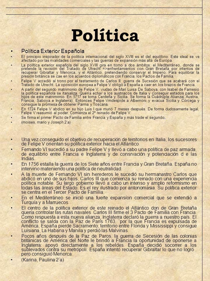 Política Política Exterior Española