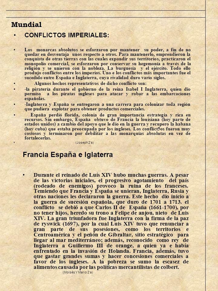 Francia España e Iglaterra