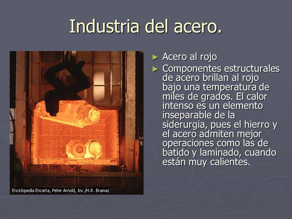 Industria del acero. Acero al rojo