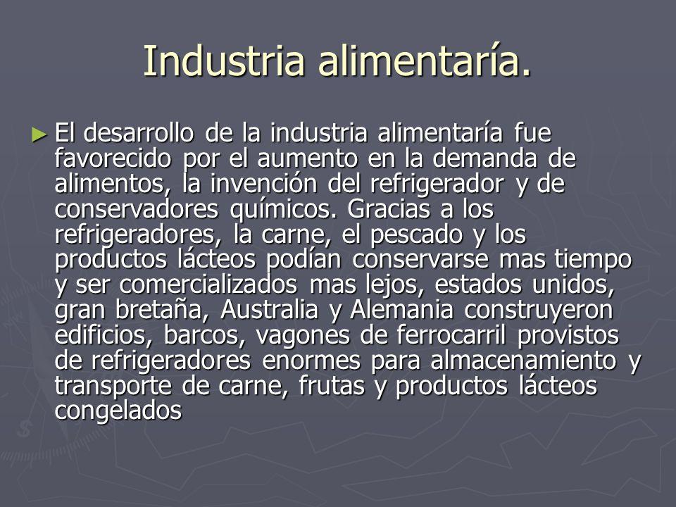 Industria alimentaría.
