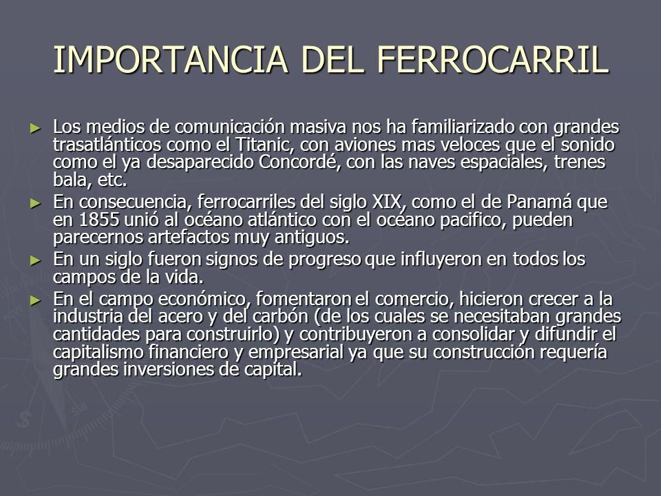 IMPORTANCIA DEL FERROCARRIL