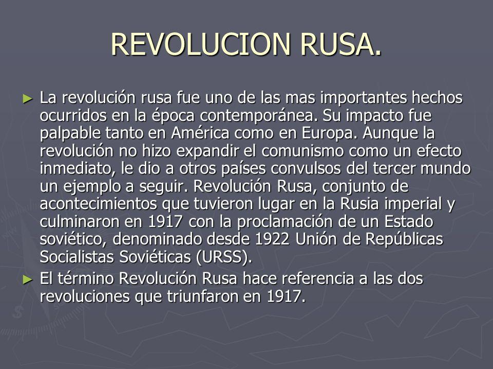 REVOLUCION RUSA.