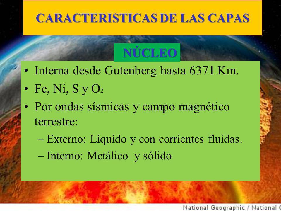 CARACTERISTICAS DE LAS CAPAS