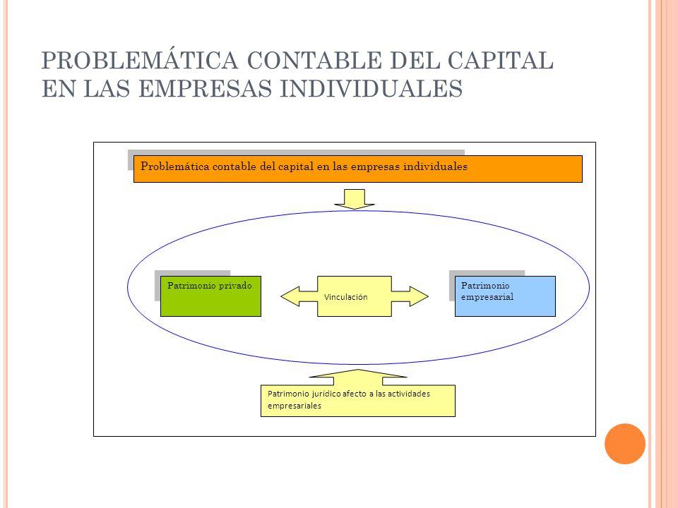 PROBLEMÁTICA CONTABLE DEL CAPITAL EN LAS EMPRESAS INDIVIDUALES