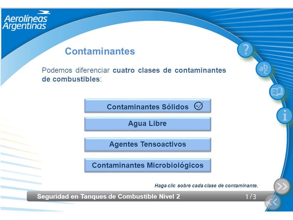 Contaminantes Sólidos Contaminantes Microbiológicos