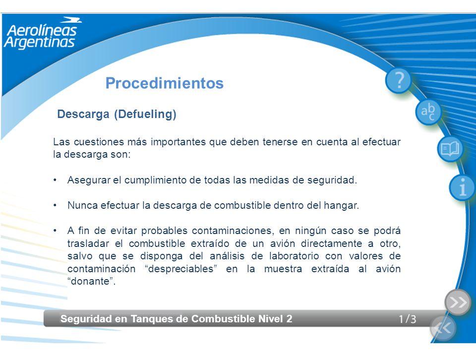 Procedimientos Descarga (Defueling)