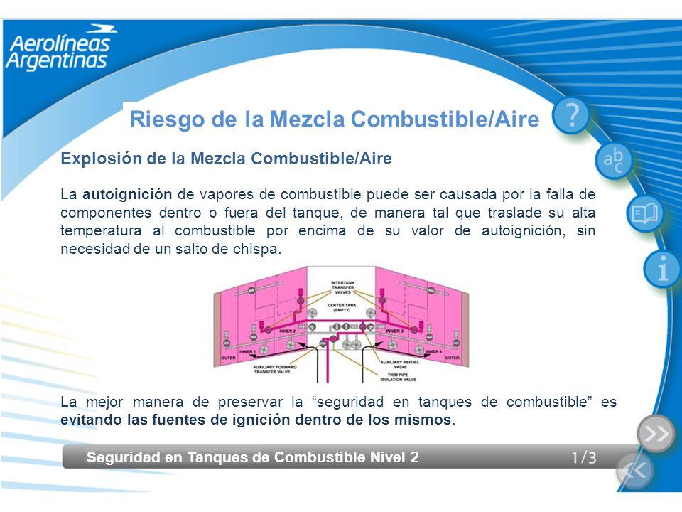 Riesgo de la Mezcla Combustible/Aire