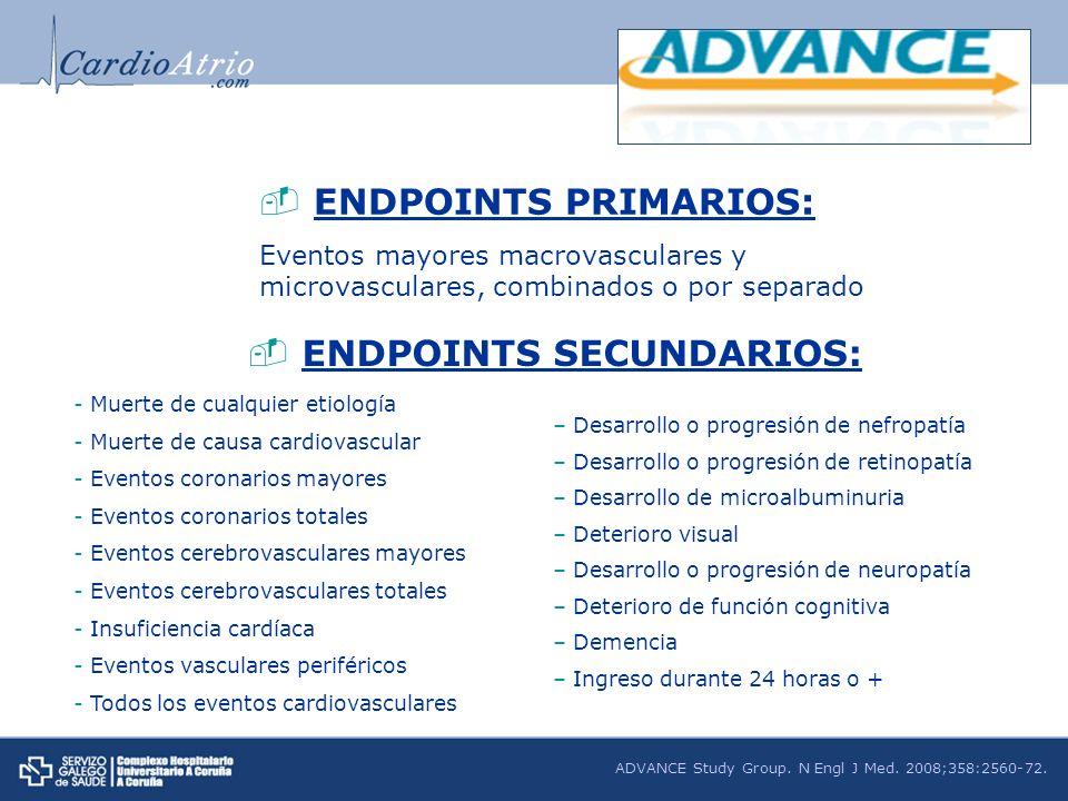 ENDPOINTS SECUNDARIOS: