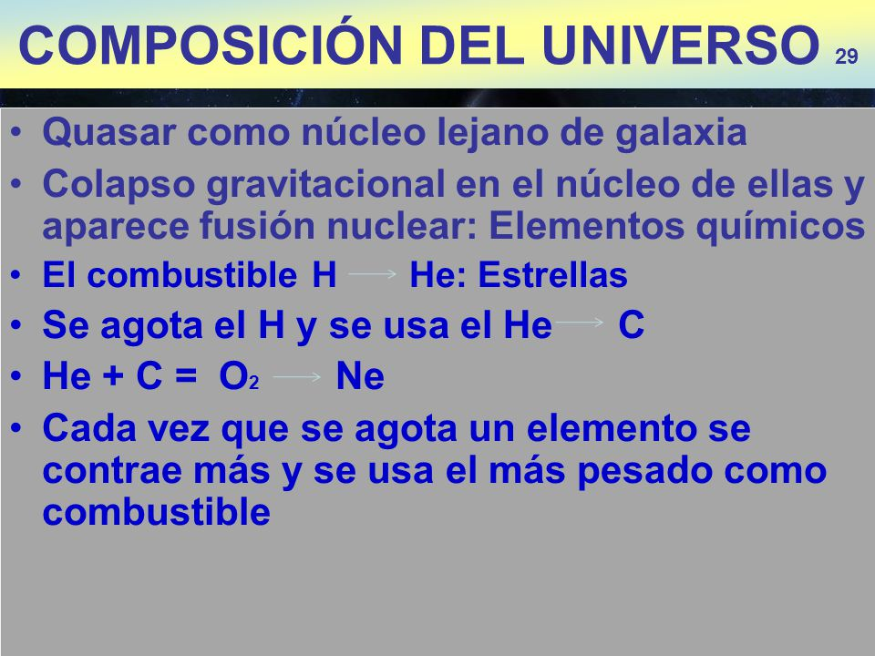 COMPOSICIÓN DEL UNIVERSO 29