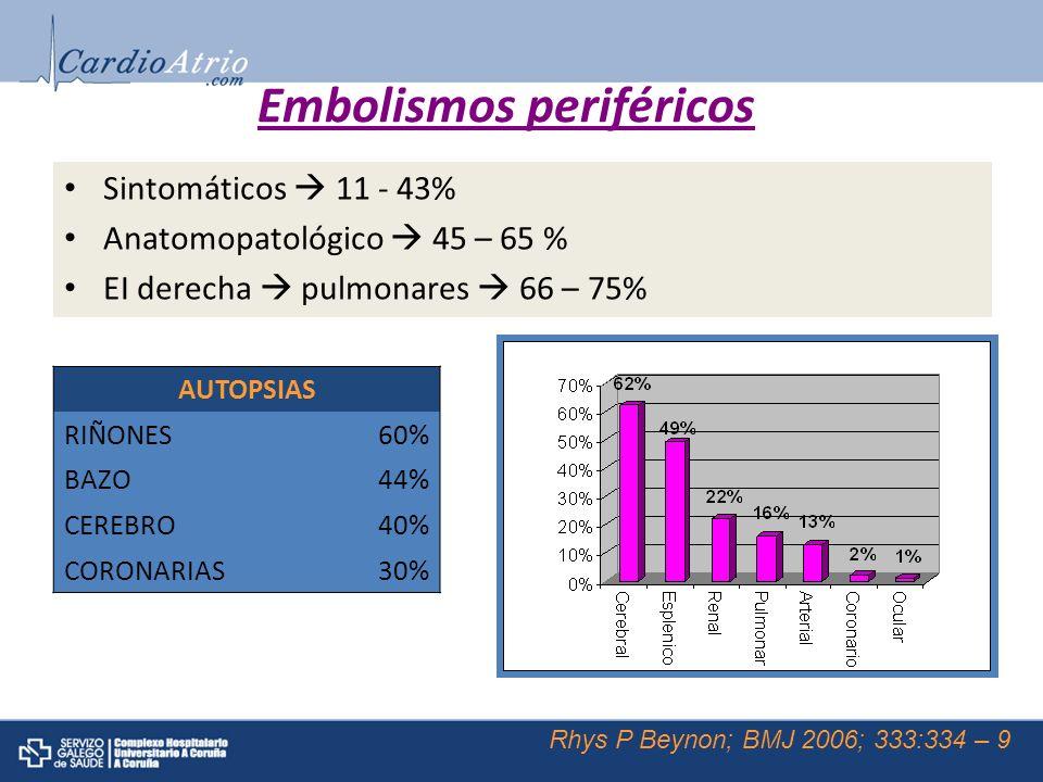 Embolismos periféricos