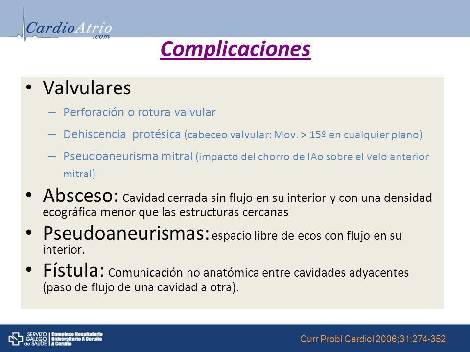 Complicaciones Valvulares