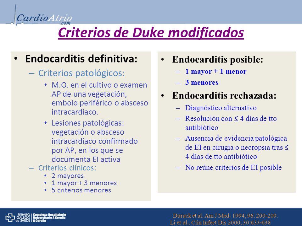 Criterios de Duke modificados