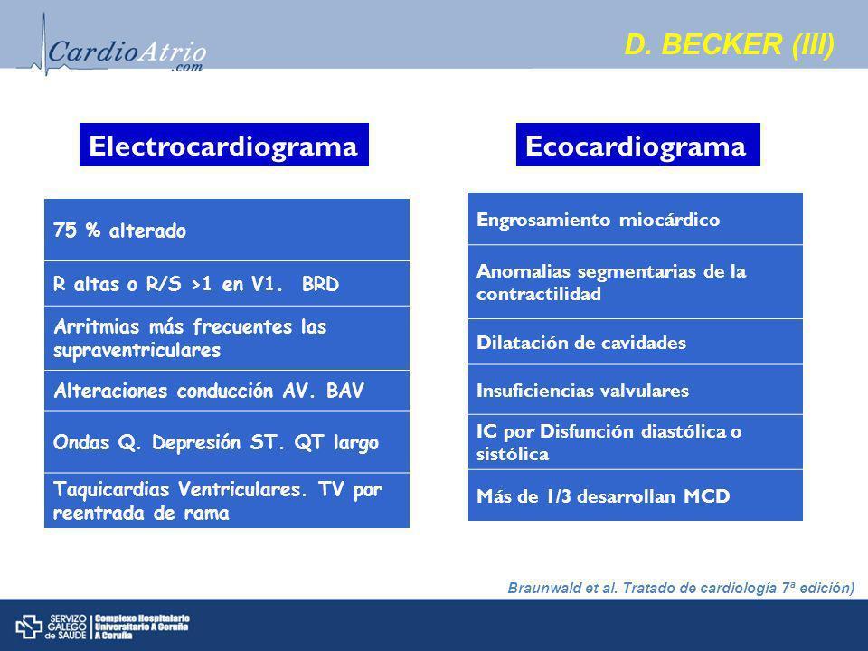 D. BECKER (III) Electrocardiograma Ecocardiograma