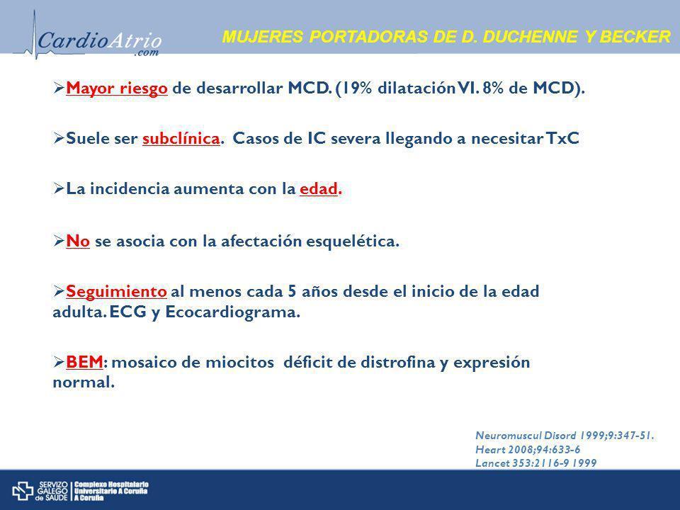 MUJERES PORTADORAS DE D. DUCHENNE Y BECKER