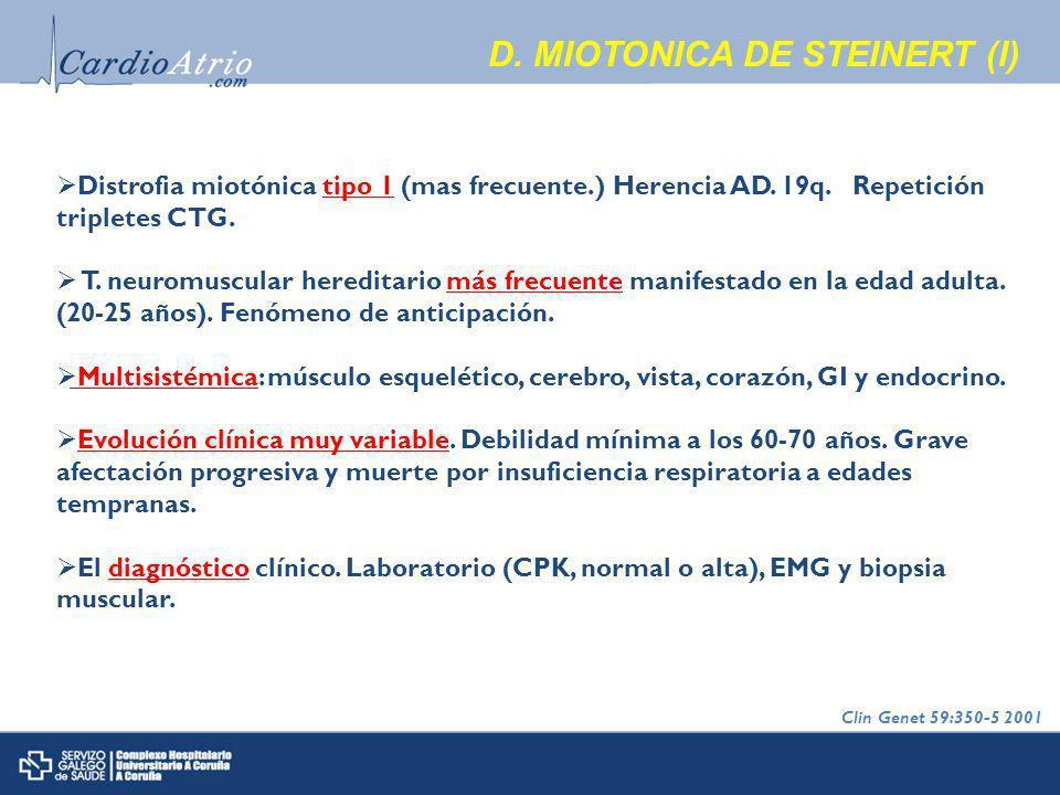 D. MIOTONICA DE STEINERT (I)