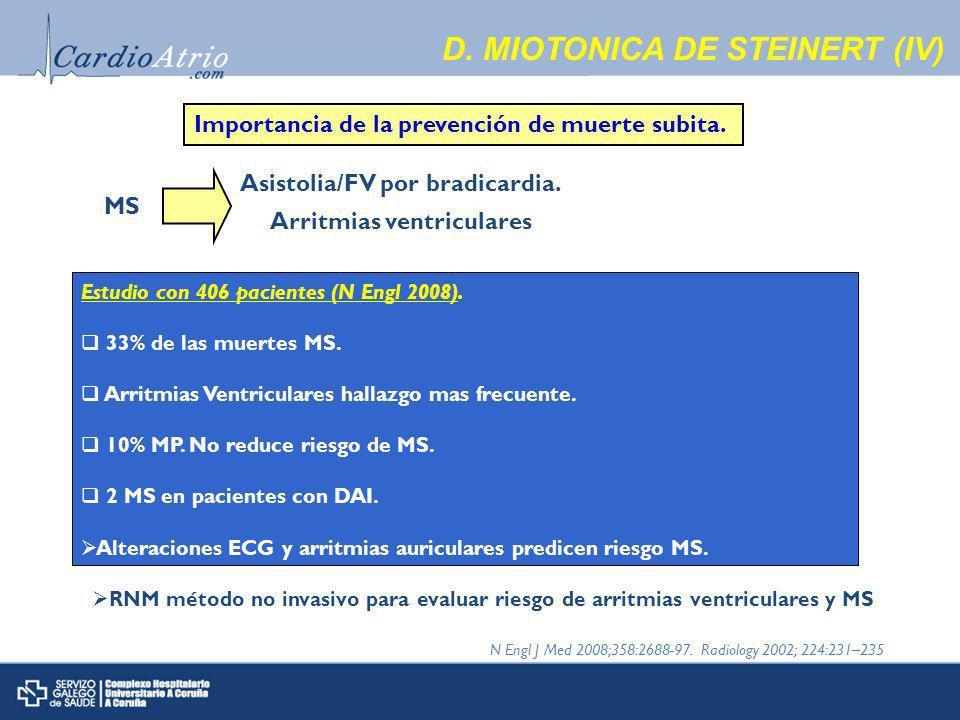 D. MIOTONICA DE STEINERT (IV)