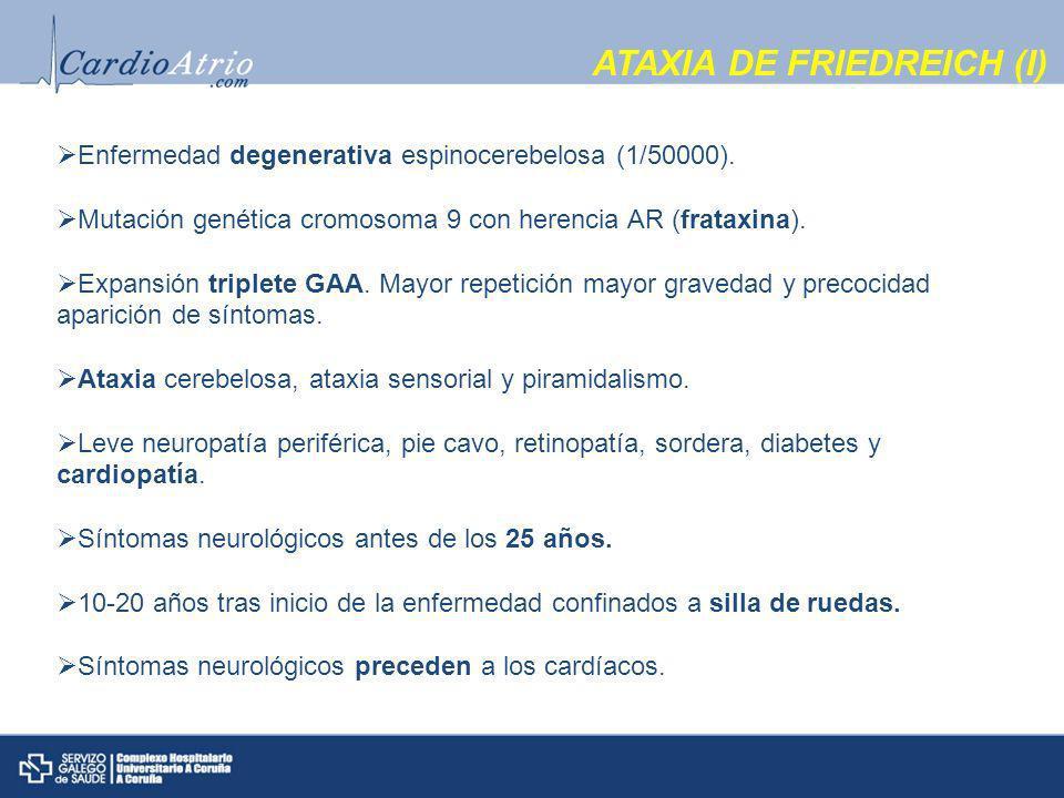 ATAXIA DE FRIEDREICH (I)