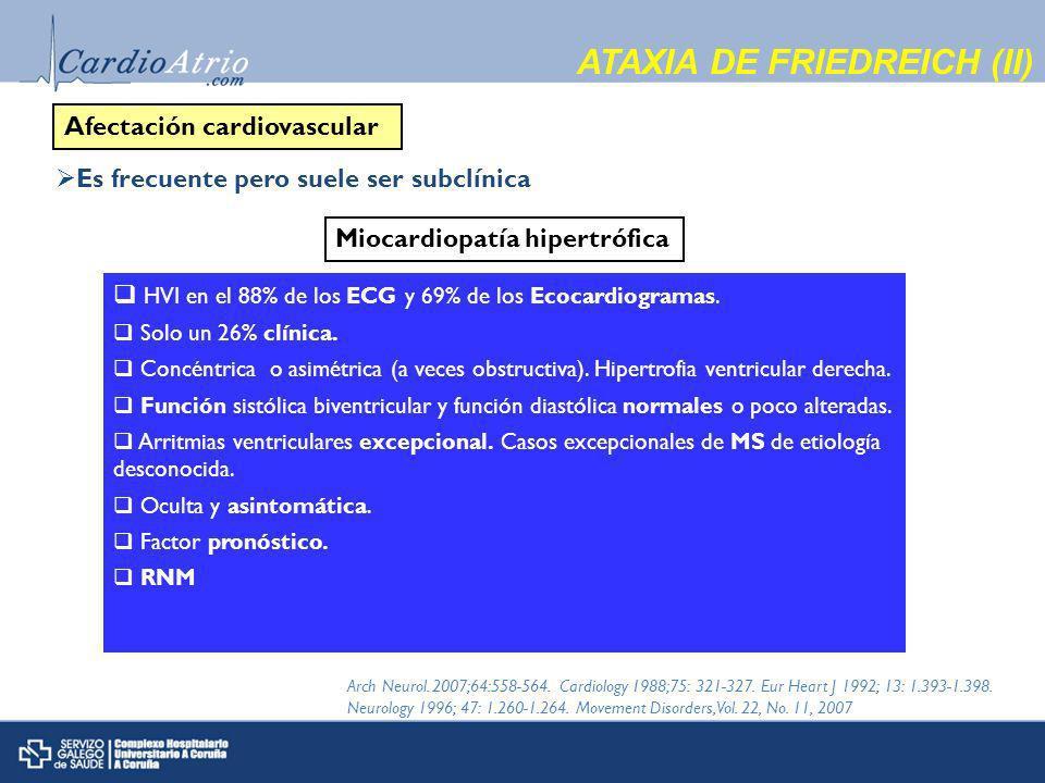 ATAXIA DE FRIEDREICH (II)