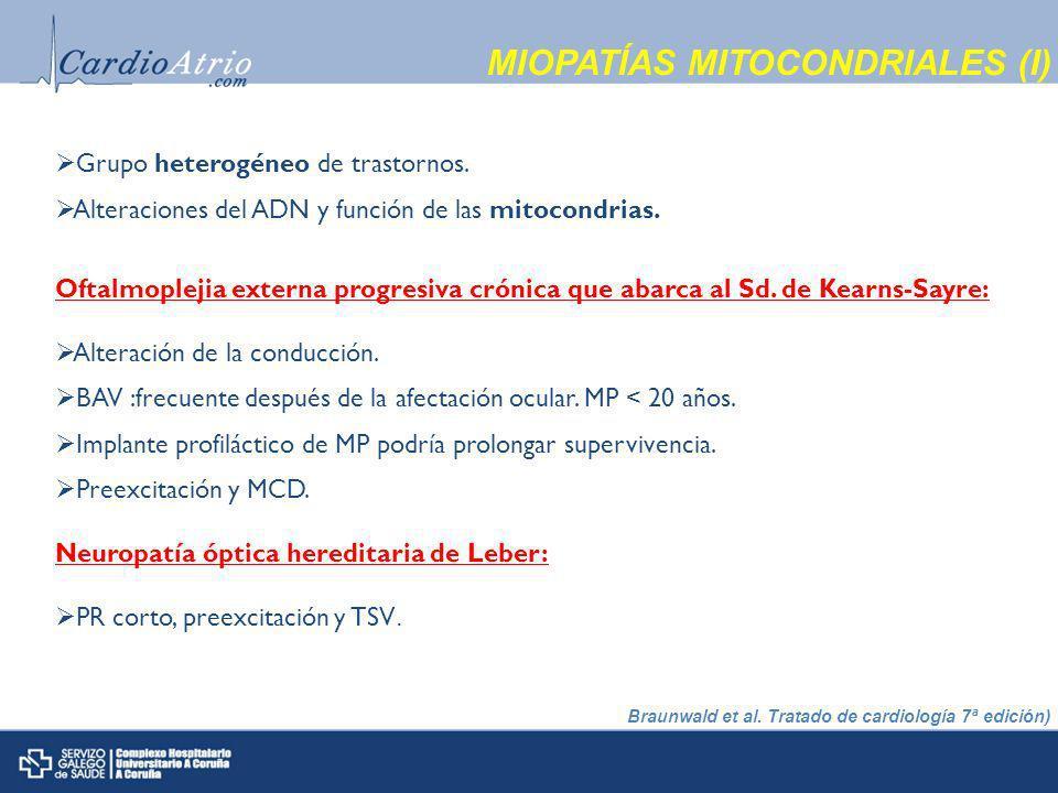 MIOPATÍAS MITOCONDRIALES (I)