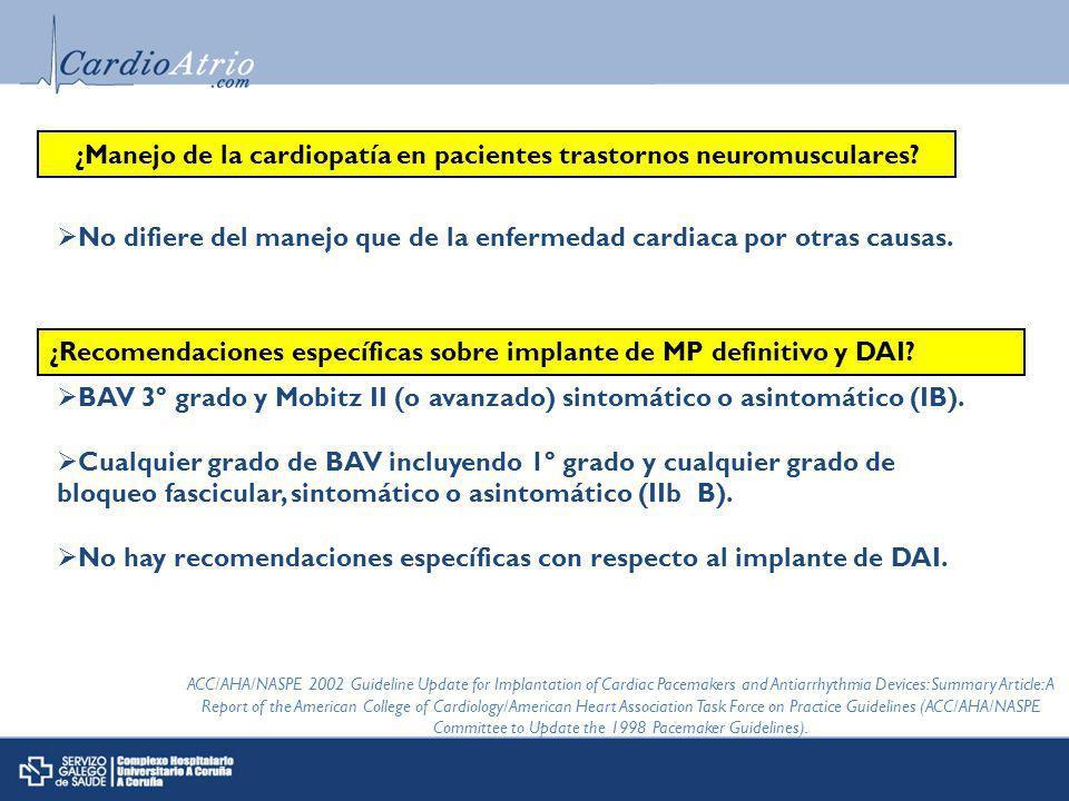 ¿Manejo de la cardiopatía en pacientes trastornos neuromusculares