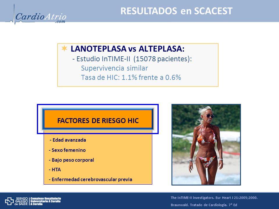 RESULTADOS en SCACEST LANOTEPLASA vs ALTEPLASA: