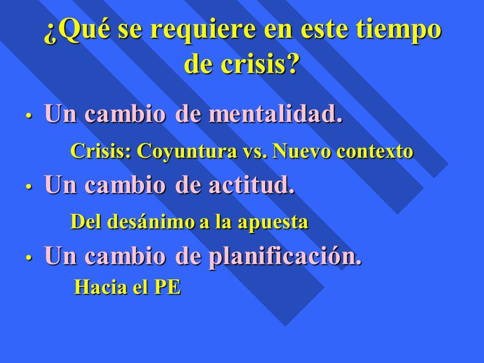 ¿Qué se requiere en este tiempo de crisis