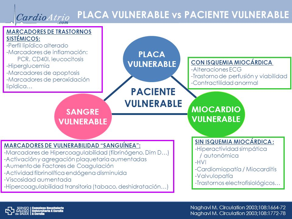 PLACA VULNERABLE vs PACIENTE VULNERABLE