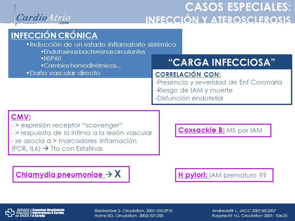 CASOS ESPECIALES: INFECCIÓN Y ATEROSCLEROSIS CARGA INFECCIOSA