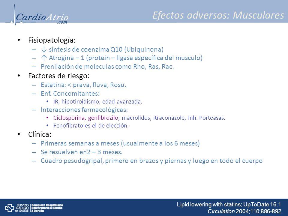 Efectos adversos: Musculares