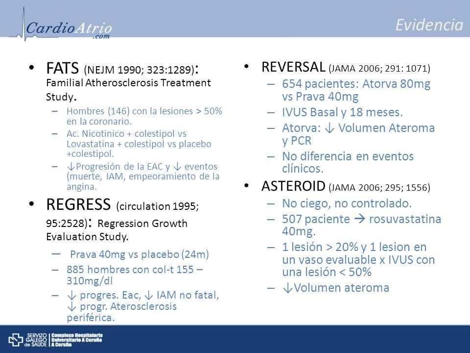 FATS (NEJM 1990; 323:1289): Familial Atherosclerosis Treatment Study.