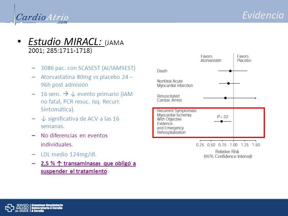 Estudio MIRACL: (JAMA 2001; 285:1711-1718)