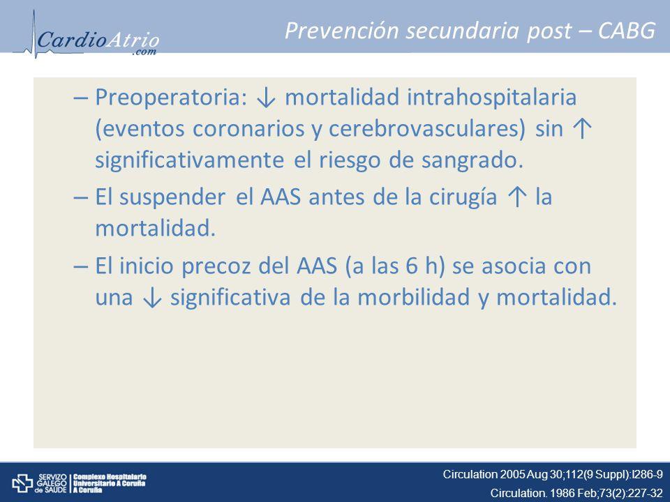Prevención secundaria post – CABG