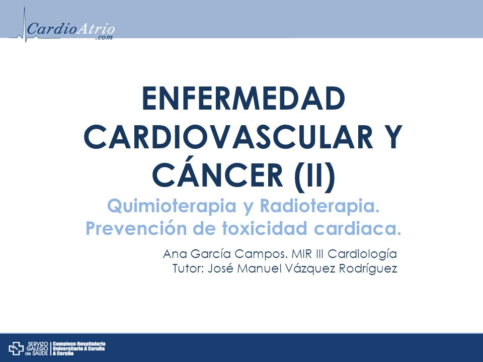 ENFERMEDAD CARDIOVASCULAR Y CÁNCER (II)