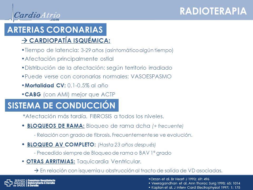 RADIOTERAPIA ARTERIAS CORONARIAS SISTEMA DE CONDUCCIÓN