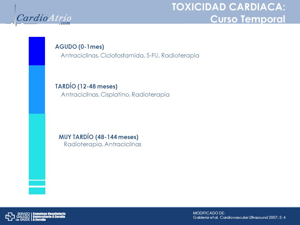 TOXICIDAD CARDIACA: Curso Temporal AGUDO (0-1mes)