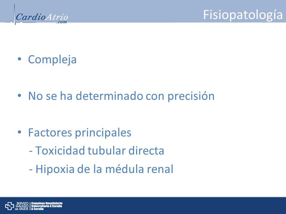 Fisiopatología Compleja No se ha determinado con precisión