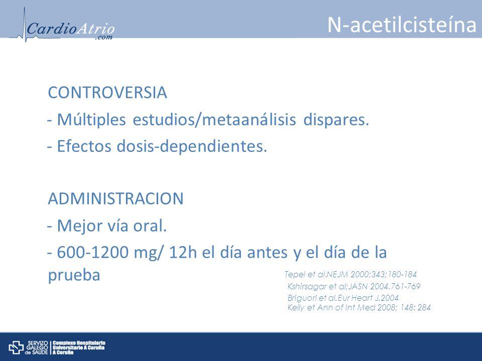 N-acetilcisteína CONTROVERSIA