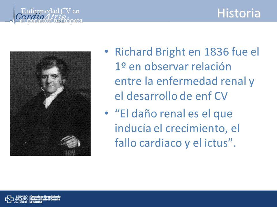 Enfermedad CV en el paciente nefrópata. Historia.