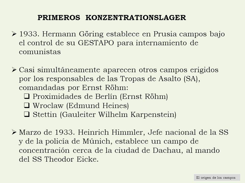 PRIMEROS KONZENTRATIONSLAGER