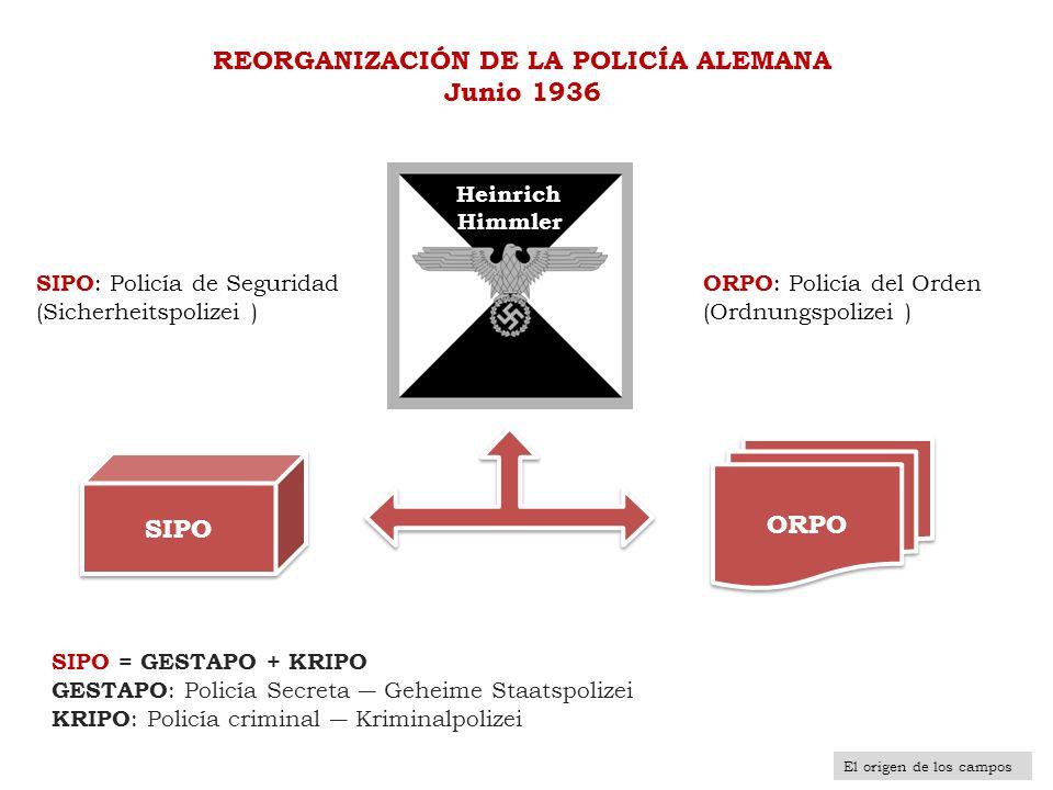 REORGANIZACIÓN DE LA POLICÍA ALEMANA Junio 1936