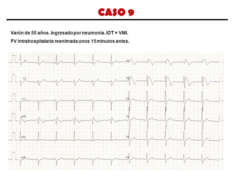 CASO 9 Varón de 55 años. Ingresado por neumonía. IOT + VMI.