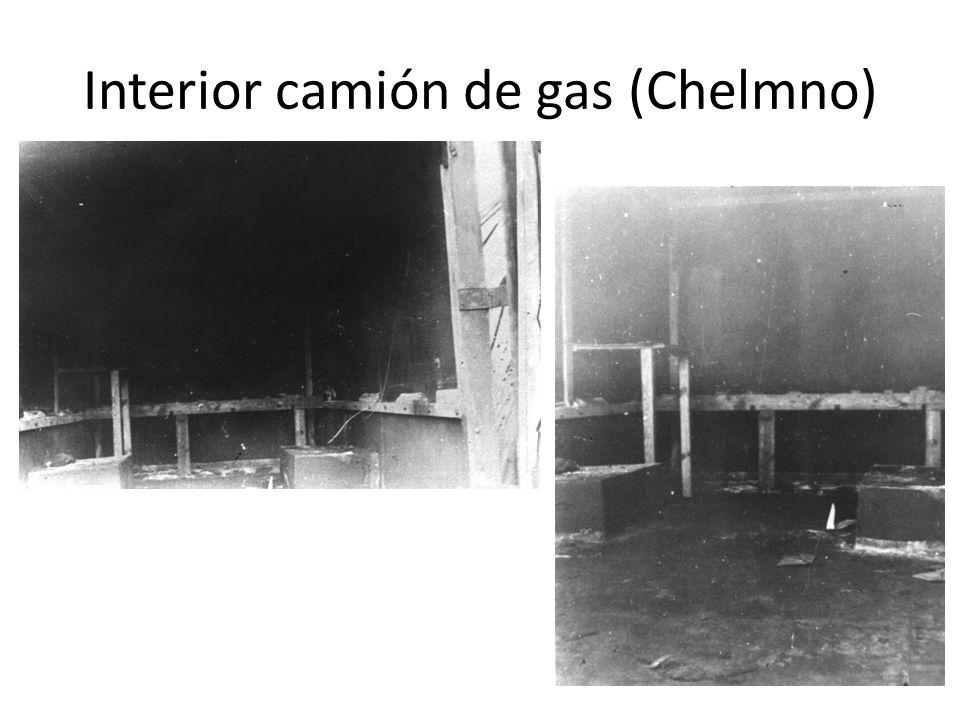 Interior camión de gas (Chelmno)