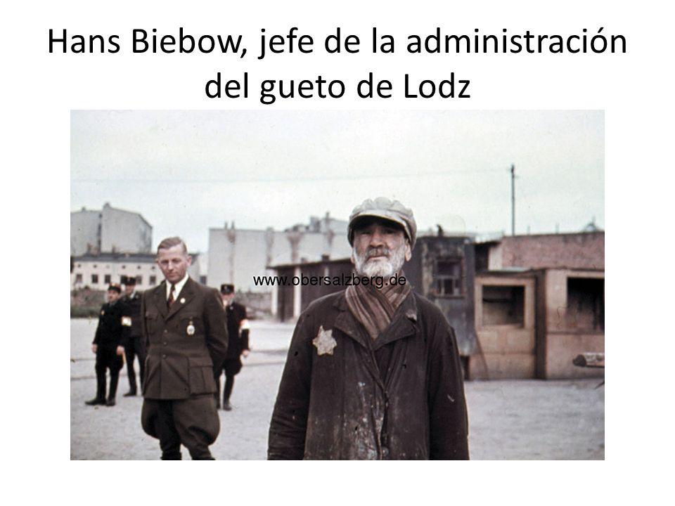 Hans Biebow, jefe de la administración del gueto de Lodz