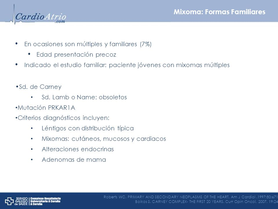 Mixoma: Formas Familiares