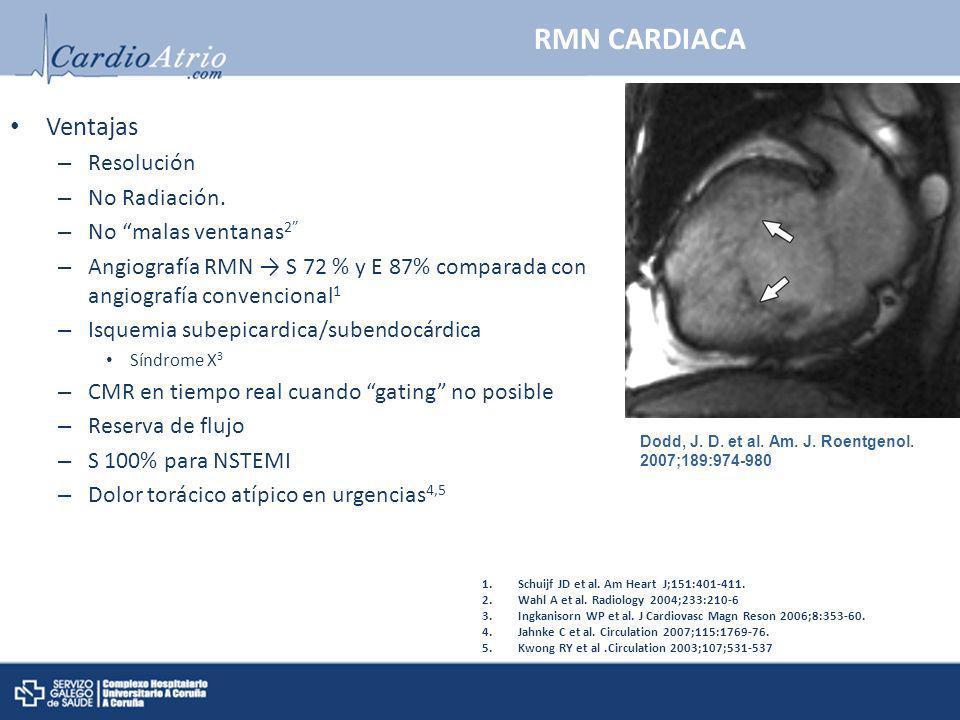 RMN CARDIACA Ventajas Resolución No Radiación. No malas ventanas2